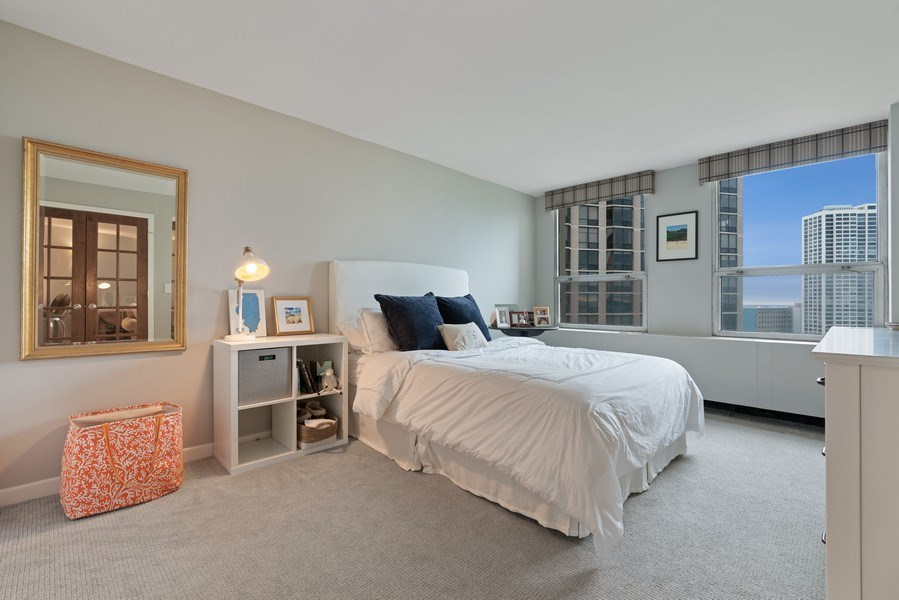 Real Estate Photography - 2626 N Lakeview Ave, Unit 1909, Chicago, IL, 60614 - Bedroom