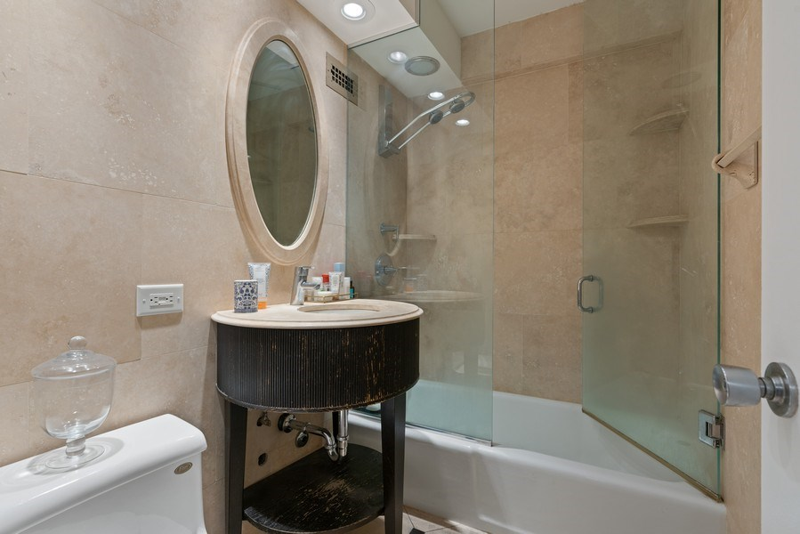 Real Estate Photography - 2626 N Lakeview Ave, Unit 1909, Chicago, IL, 60614 - Bathroom