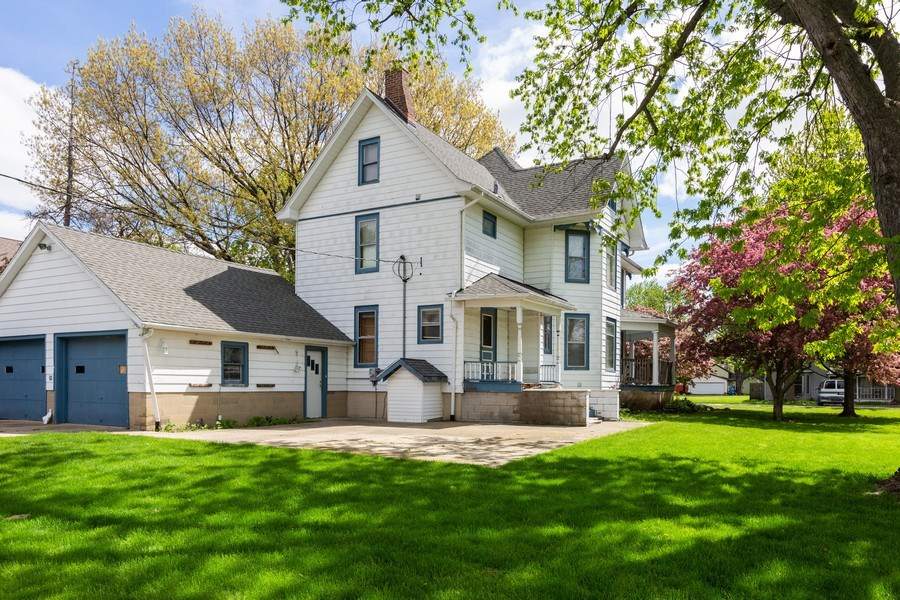 Real Estate Photography - 307 Monroe St, Gardner, IL, 60424 - Rear View