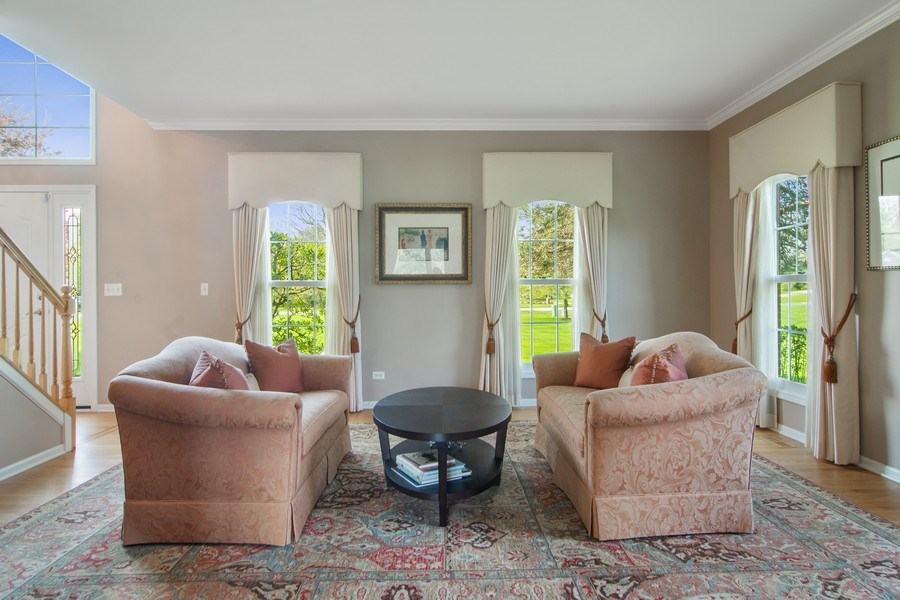 Real Estate Photography - 193 Boxwood, Hawthorn Woods, IL, 60047 - Living Room