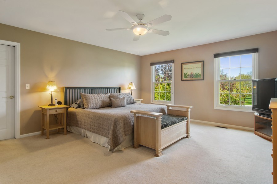 Real Estate Photography - 193 Boxwood, Hawthorn Woods, IL, 60047 - Master Bedroom