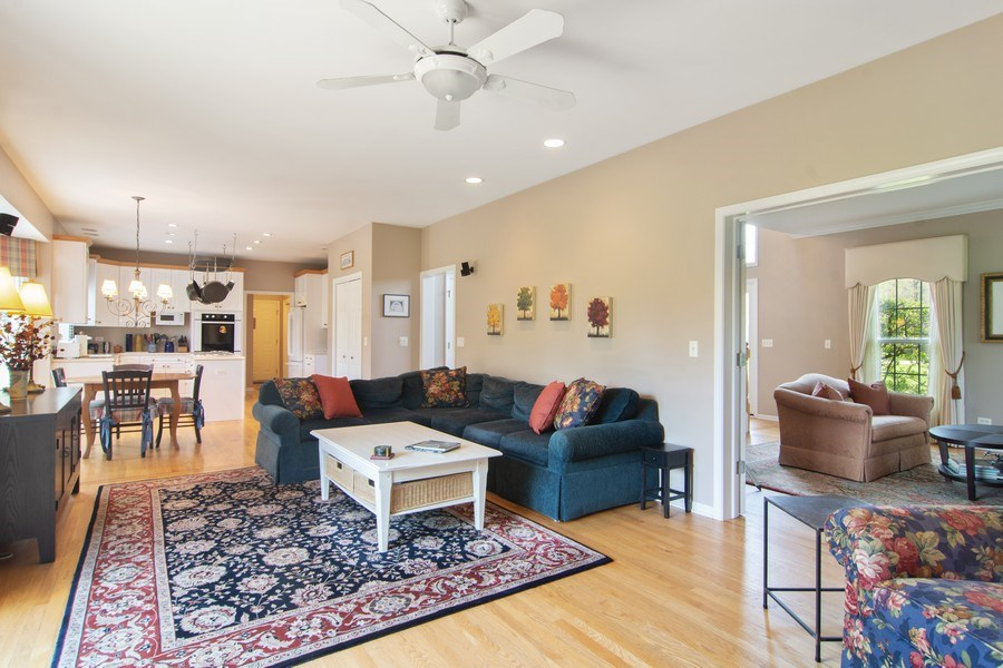 Real Estate Photography - 193 Boxwood, Hawthorn Woods, IL, 60047 - Family Room / Kitchen