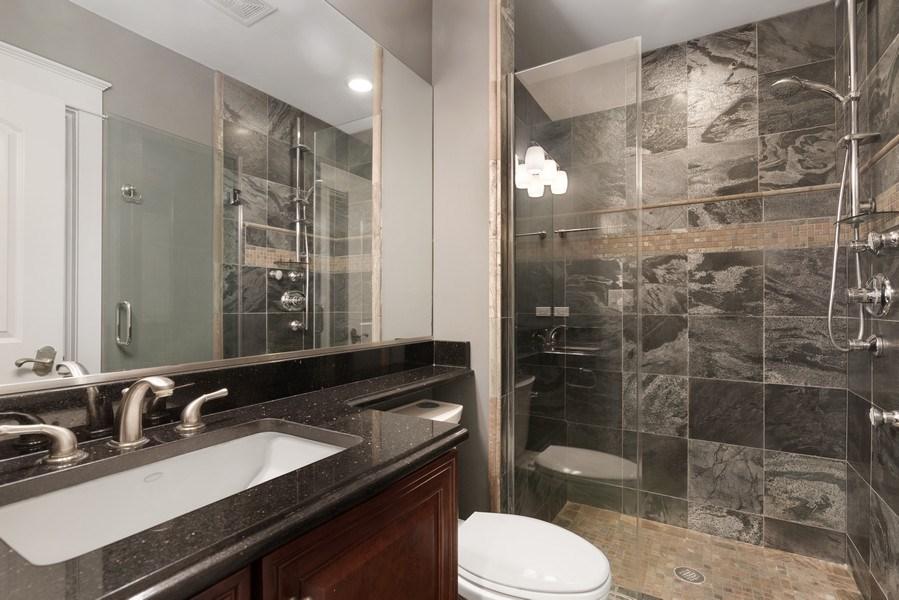 Real Estate Photography - 1739 Altgeld Avenue, Chicago, IL, 60614 - Lower Level Bathroom