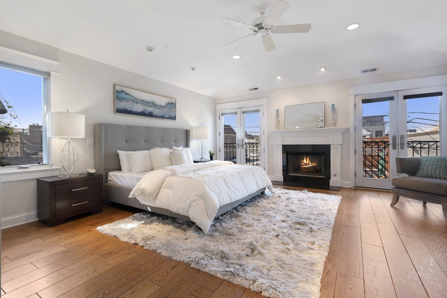 Real Estate Photography - 1739 Altgeld Avenue, Chicago, IL, 60614 - Master Bedroom