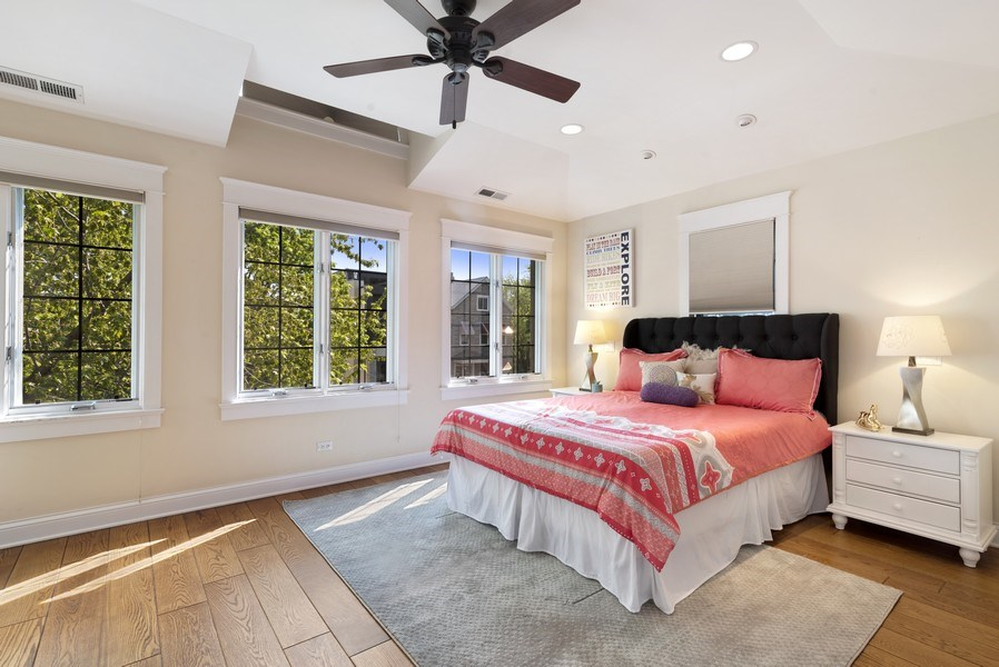 Real Estate Photography - 1739 Altgeld Avenue, Chicago, IL, 60614 - 2nd Bedroom