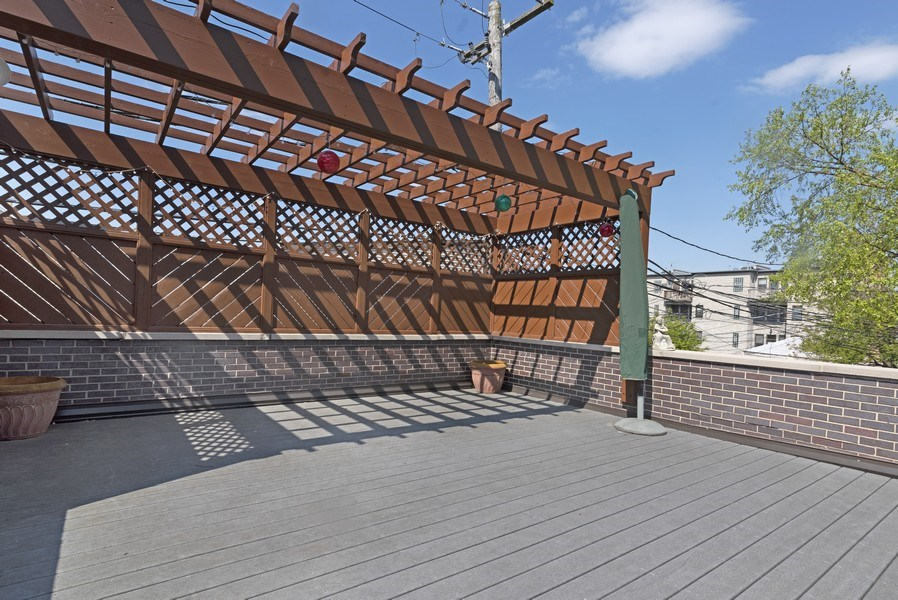 Real Estate Photography - 1739 Altgeld Avenue, Chicago, IL, 60614 - Garage Rooftop Deck
