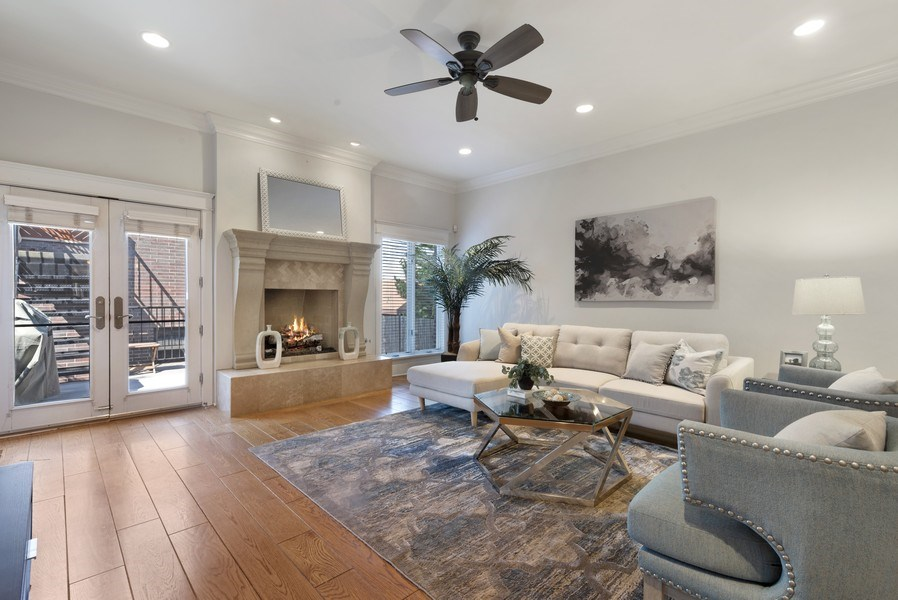 Real Estate Photography - 1739 Altgeld Avenue, Chicago, IL, 60614 - Family Room