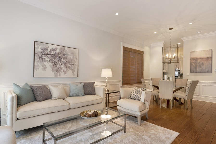Real Estate Photography - 1739 Altgeld Avenue, Chicago, IL, 60614 - Living/Dining Room