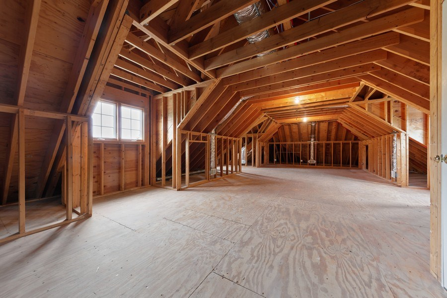 Real Estate Photography - 663 S Mitchell, Elmhurst, IL, 60126 - Unfinished 3rd Floor with Rough in for Bath