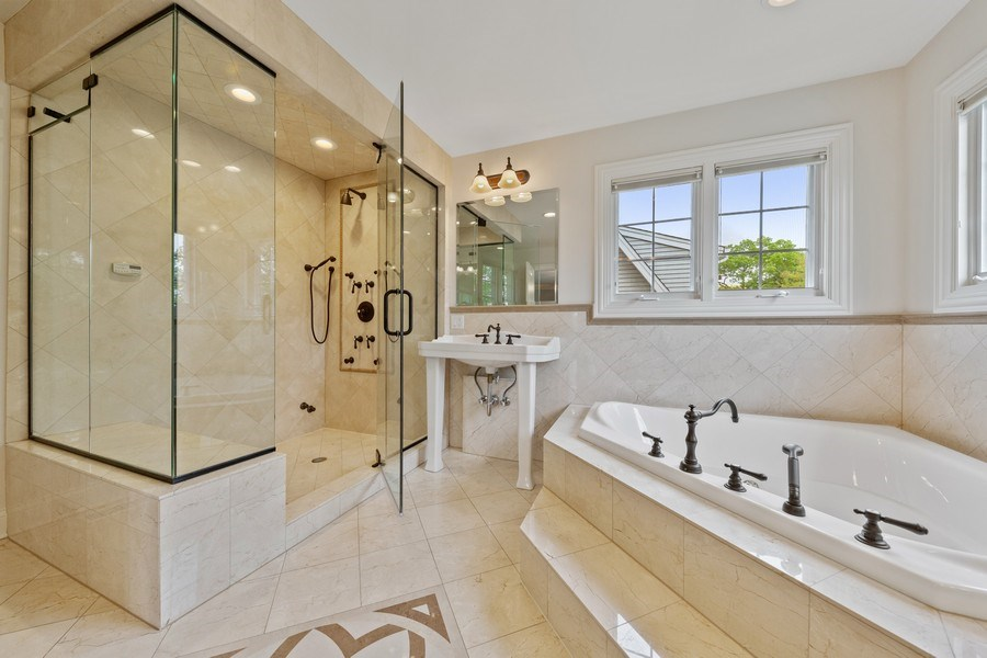 Real Estate Photography - 663 S Mitchell, Elmhurst, IL, 60126 - Master Bathroom