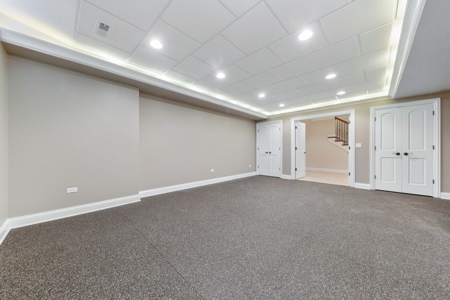 Real Estate Photography - 663 S Mitchell, Elmhurst, IL, 60126 - Media Room/Play Room/Gym