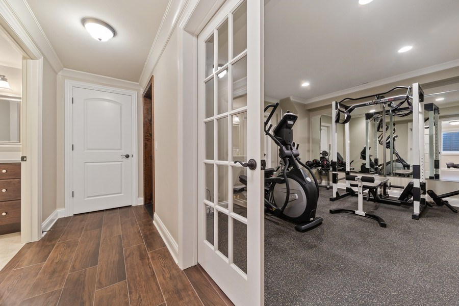 Real Estate Photography - 663 S Mitchell, Elmhurst, IL, 60126 - Exercise Room/Bedroom