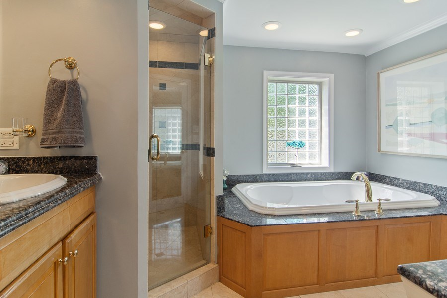 Real Estate Photography - 344 S Bristol, Arlington Heights, IL, 60005 - Master Bathroom