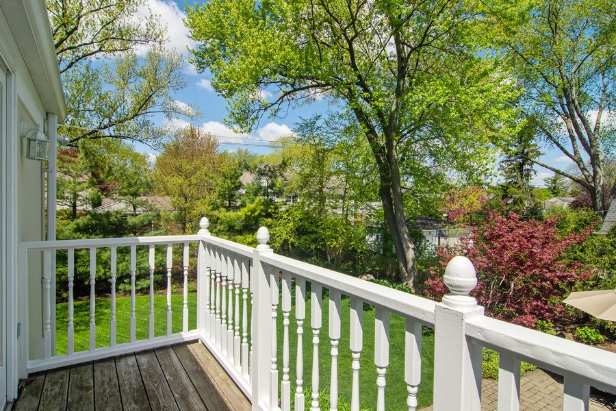 Real Estate Photography - 344 S Bristol, Arlington Heights, IL, 60005 - Balcony from Master Bedroom