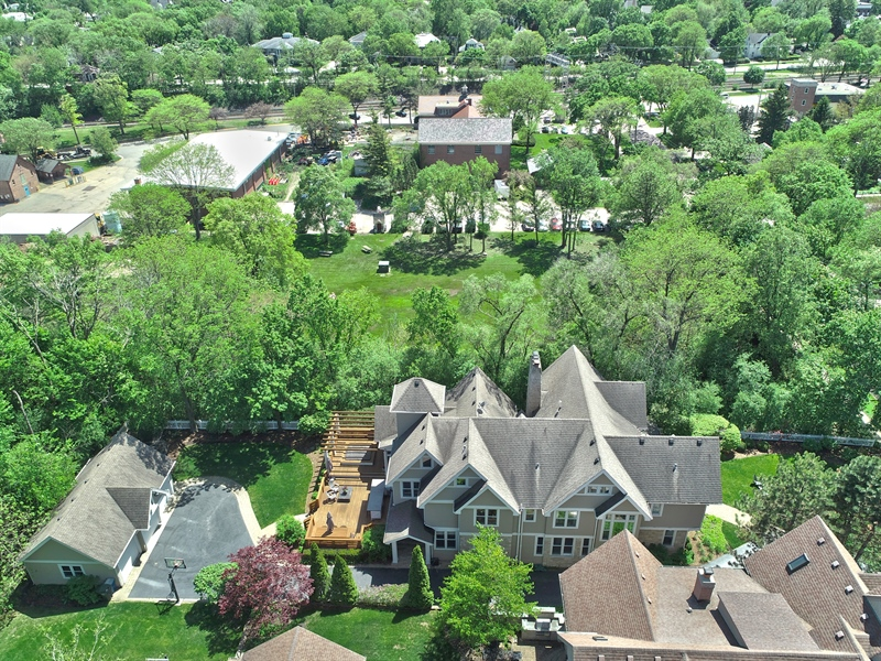 Real Estate Photography - 121 N Park Ave, Hinsdale, IL, 60521 - Aerial View
