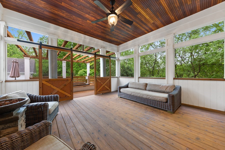 Real Estate Photography - 121 N Park Ave, Hinsdale, IL, 60521 - Screened In Porch