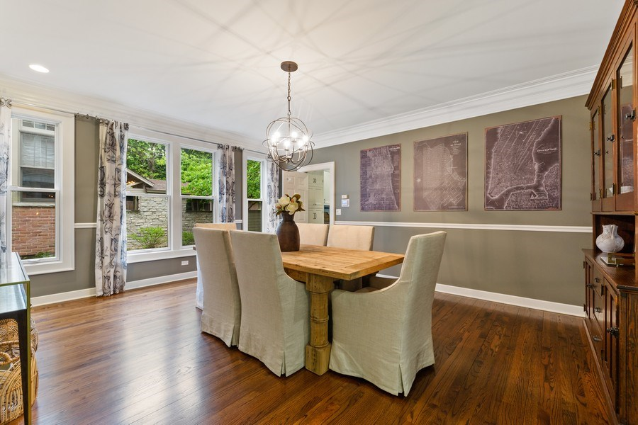 Real Estate Photography - 121 N Park Ave, Hinsdale, IL, 60521 - Dining Room
