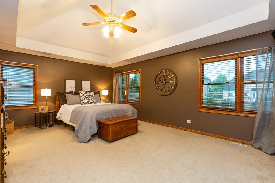 Real Estate Photography - 2167 Brookwood, South Elgin, IL, 60177 - Master Bedroom