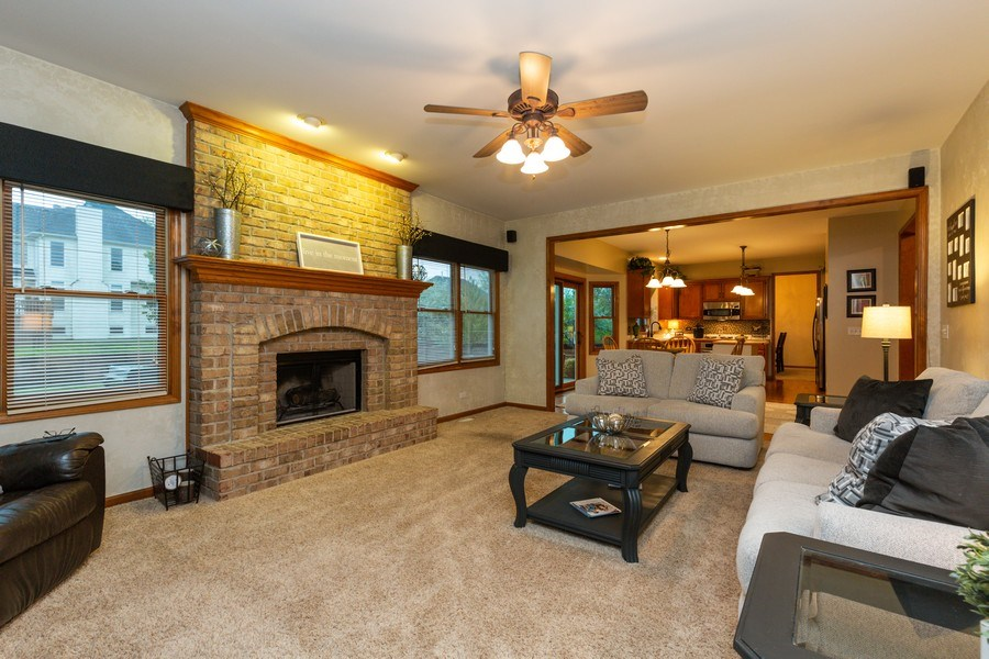 Real Estate Photography - 2167 Brookwood, South Elgin, IL, 60177 - Family Room