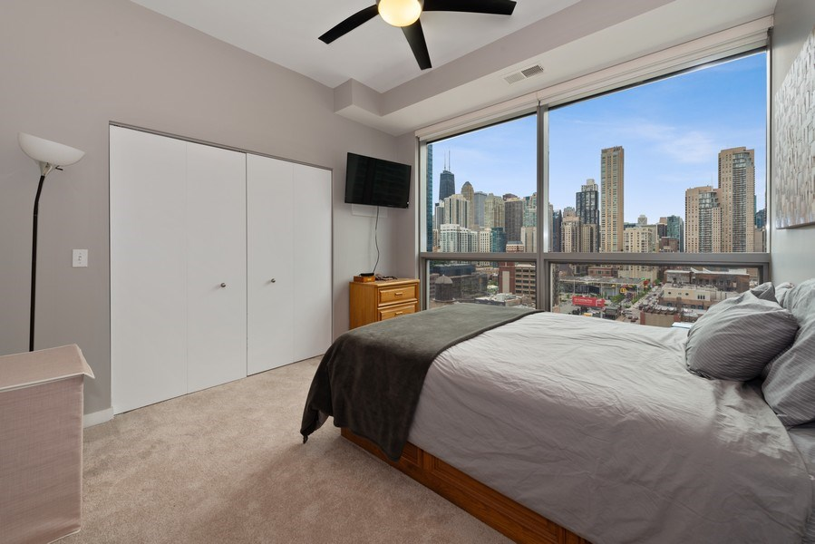 Real Estate Photography - 303 W. Ohio St., 1502, Chicago, IL, 60654 - Bedroom