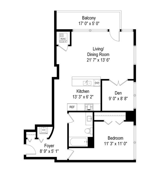 Real Estate Photography - 303 W. Ohio St., 1502, Chicago, IL, 60654 - Floor Plan