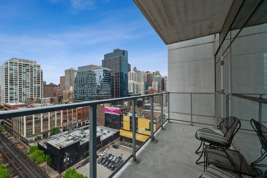 Real Estate Photography - 303 W. Ohio St., 1502, Chicago, IL, 60654 - Balcony