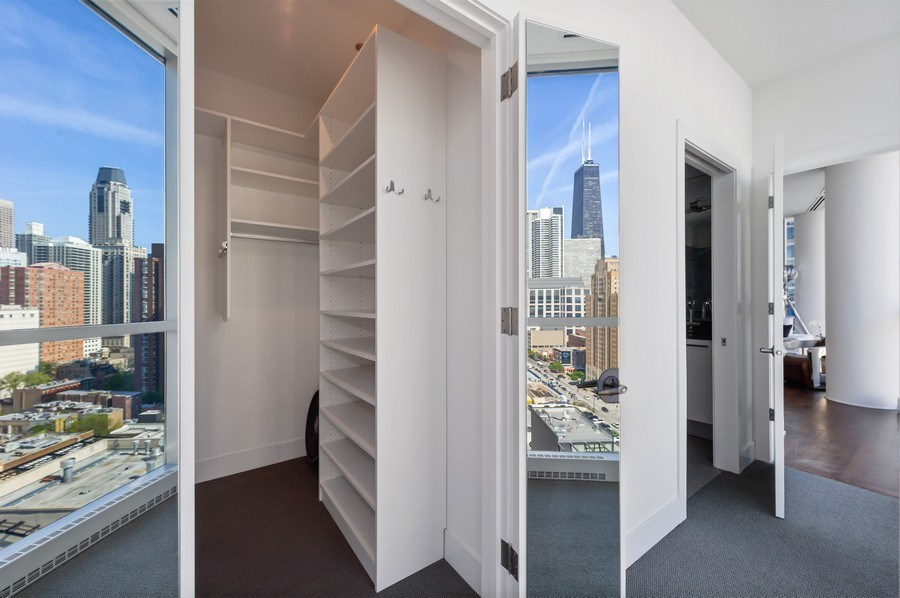 Real Estate Photography - 110 W. Superior St., #1804, Chicago, IL, 60654 - Master Bedroom Closet