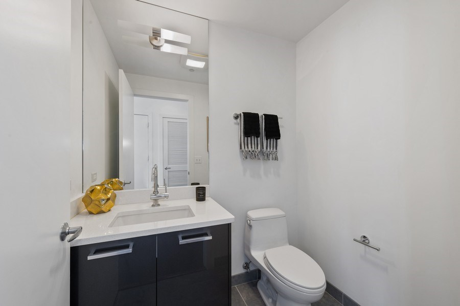 Real Estate Photography - 110 W. Superior St., #1804, Chicago, IL, 60654 - Half Bath