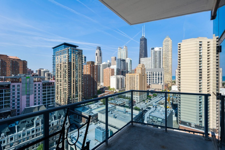 Real Estate Photography - 110 W. Superior St., #1804, Chicago, IL, 60654 - Balcony