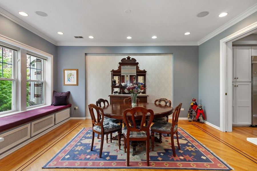 Real Estate Photography - 455 West Oakdale, Unit 3, Chicago, IL, 60657 - Dining Room