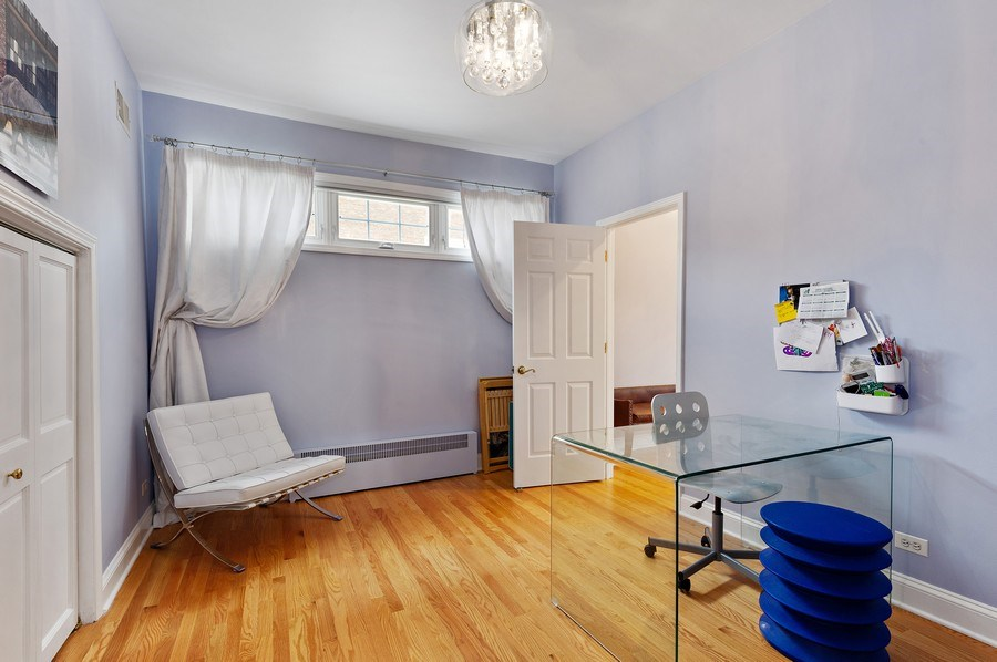 Real Estate Photography - 455 West Oakdale, Unit 3, Chicago, IL, 60657 - Bedroom 4/Office