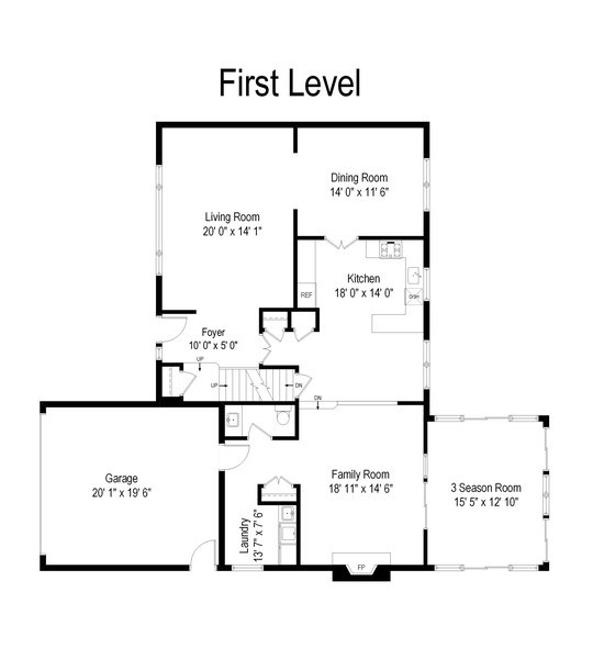 Real Estate Photography - 1739 N. Dover Lane, Arlington Heights, IL, 60004 - Floor Plan