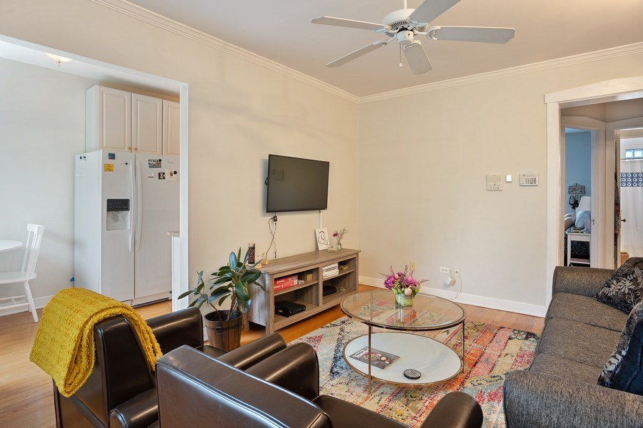 Real Estate Photography - 1020 West Barry Avenue, Unit 3, Chicago, IL, 60657 - Living Room