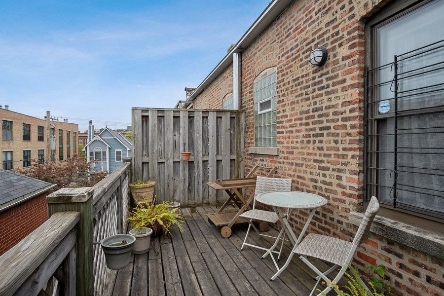 Real Estate Photography - 1020 West Barry Avenue, Unit 3, Chicago, IL, 60657 - Balcony