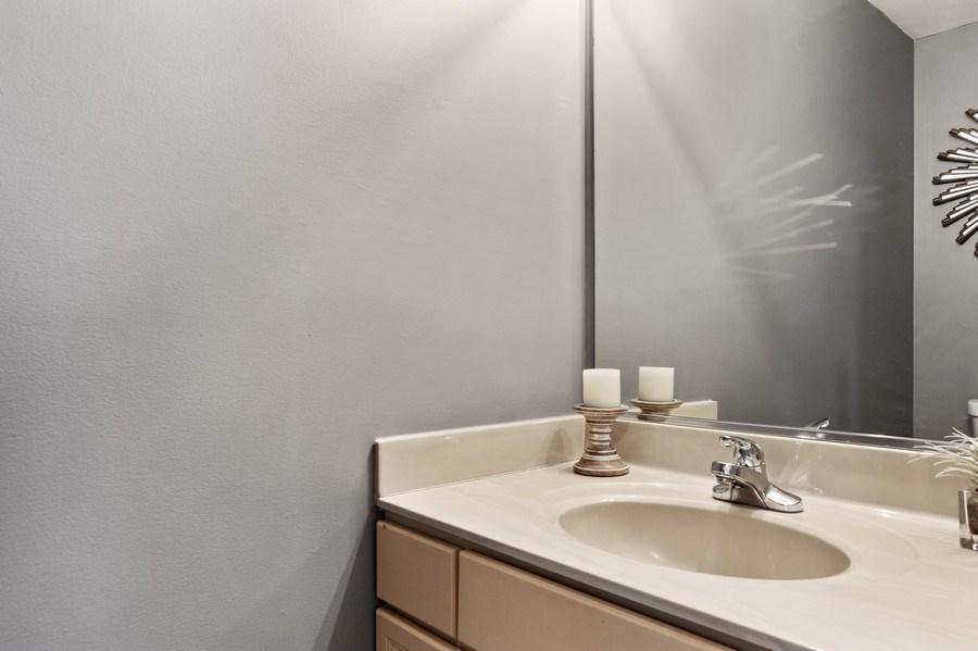 Real Estate Photography - 1374 S Dalton dr, Round Lake, IL, 60073 - Powder Room