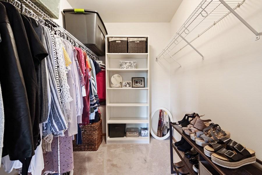 Real Estate Photography - 1374 S Dalton dr, Round Lake, IL, 60073 - Master Bedroom Closet