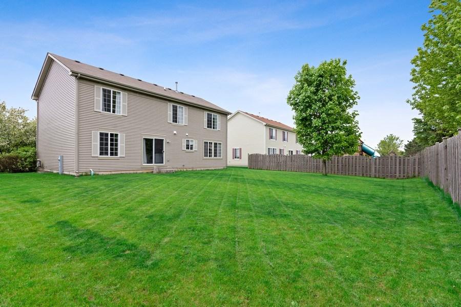 Real Estate Photography - 1374 S Dalton dr, Round Lake, IL, 60073 - Rear View