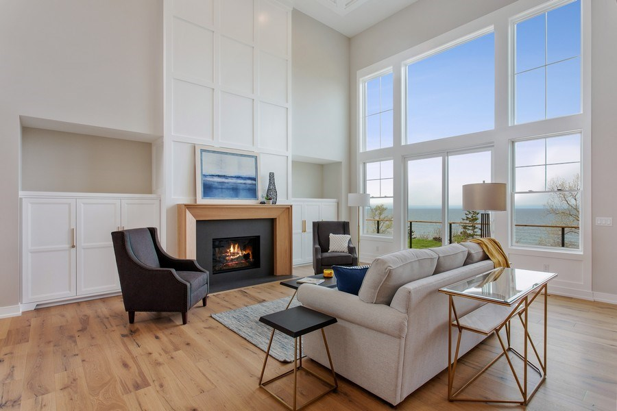Real Estate Photography - 7390 Highfield Beach Drive, South Haven, MI, 49090 - Living Room