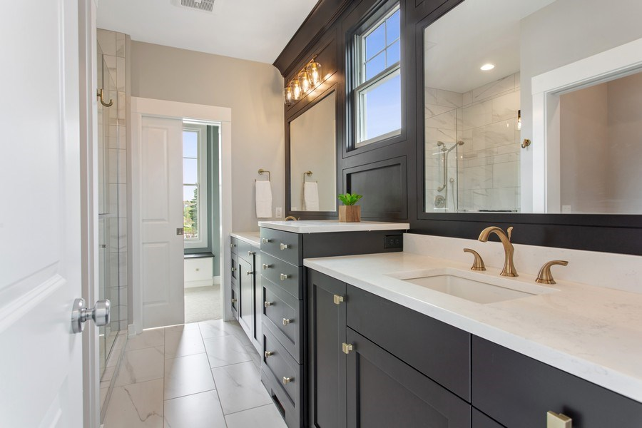 Real Estate Photography - 7390 Highfield Beach Drive, South Haven, MI, 49090 - Master Bathroom