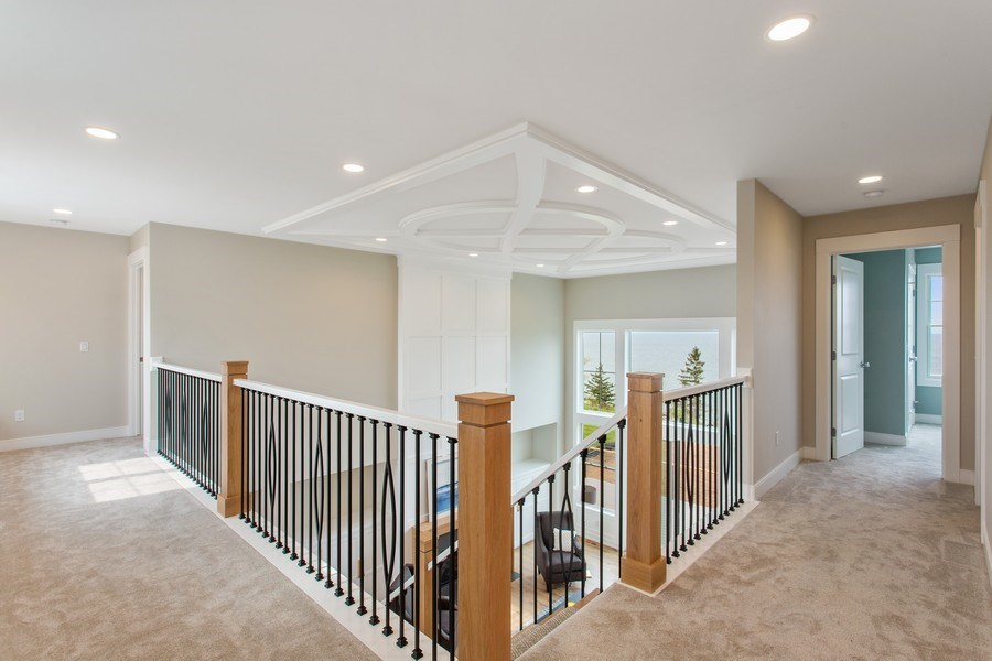 Real Estate Photography - 7390 Highfield Beach Drive, South Haven, MI, 49090 - 2nd Floor Corridor