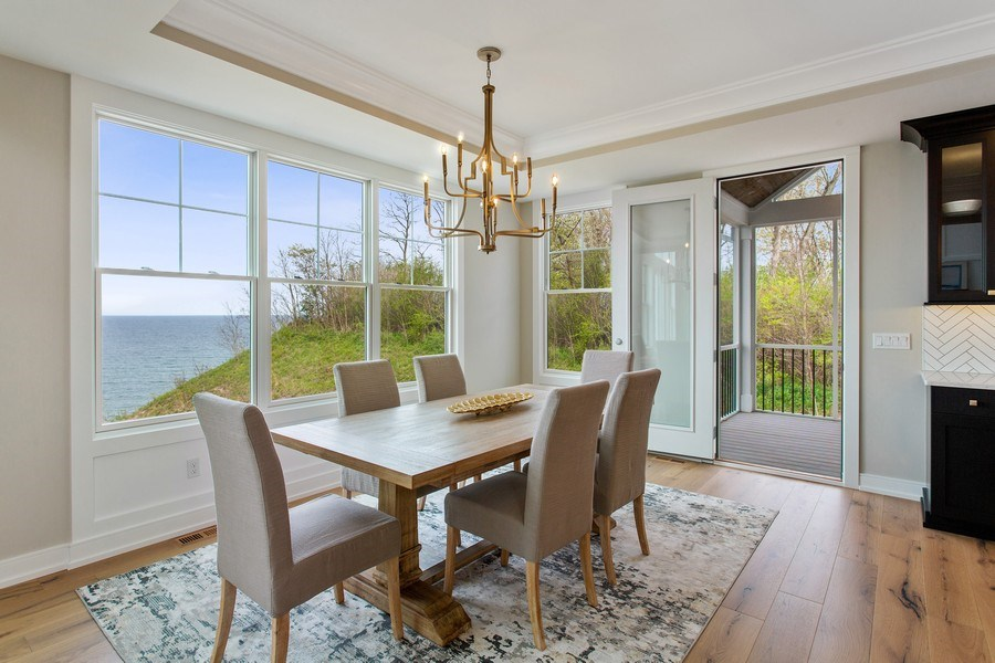 Real Estate Photography - 7390 Highfield Beach Drive, South Haven, MI, 49090 - Dining Room