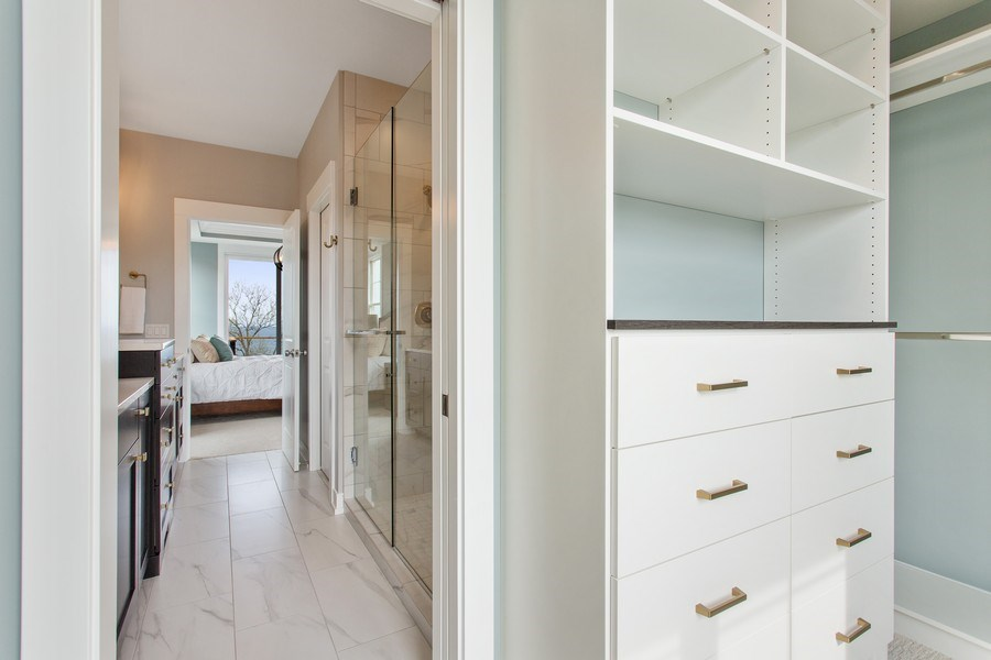 Real Estate Photography - 7390 Highfield Beach Drive, South Haven, MI, 49090 - Master Bedroom Closet
