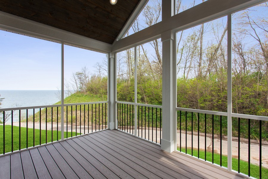 Real Estate Photography - 7390 Highfield Beach Drive, South Haven, MI, 49090 - Porch