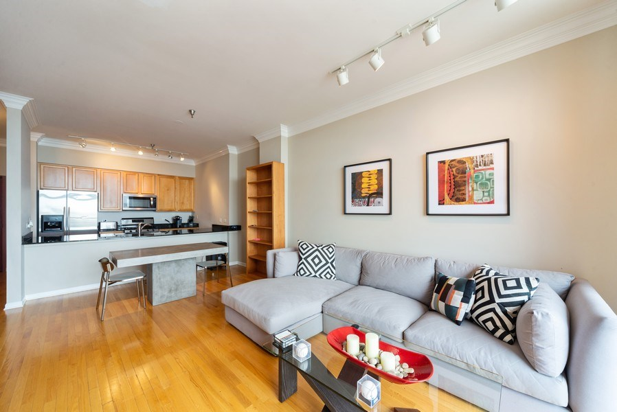 Real Estate Photography - 3232 N Halsted, #1008, Chicago, IL, 60657 - Kitchen / Living Room