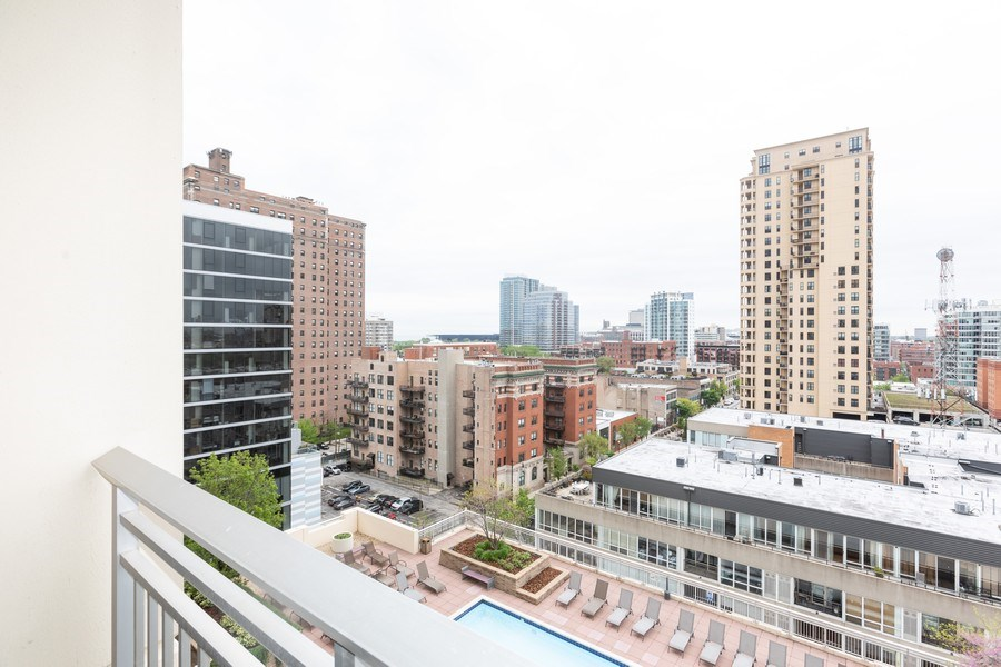 Real Estate Photography - 1400 S. Michigan Ave, Unit 1108, Chicago, IL, 60605 - View from balcony