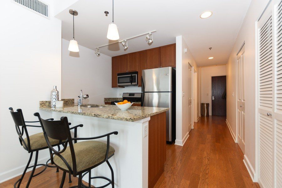 Real Estate Photography - 1400 S. Michigan Ave, Unit 1108, Chicago, IL, 60605 - Kitchen
