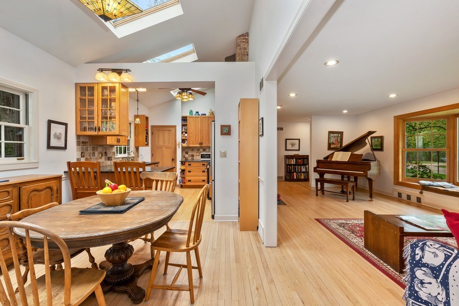 Real Estate Photography - 128 Lincolnwood Ave, Highland Park, IL, 60035 - Dining Room to Kitchen & Living Room