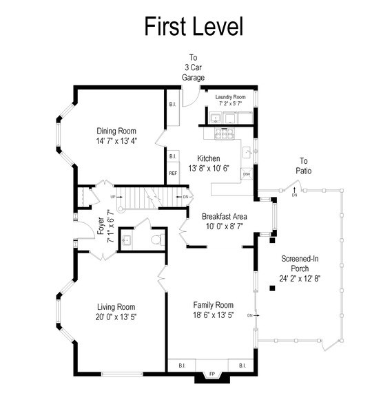 Real Estate Photography - 80 Watergate Drive, South Barrington, IL, 60010 - Floor Plan