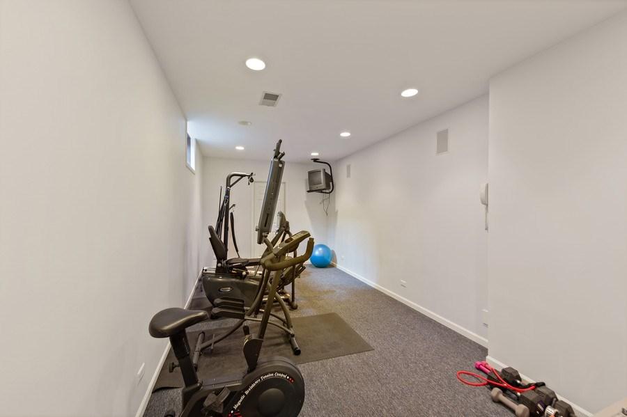 Real Estate Photography - 6705 Fieldstone Drive, Burr Ridge, IL, 60527 - Fitness Room