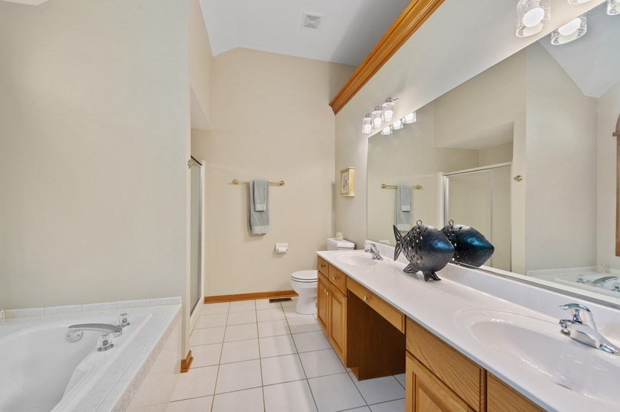 Real Estate Photography - 810 Dunham Drive, West Chicago, IL, 60185 - Master Bathroom